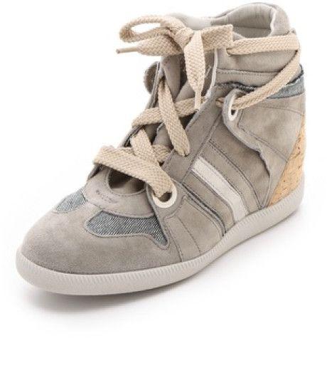 Serafini Manhattan Cork Wedge Sneakers