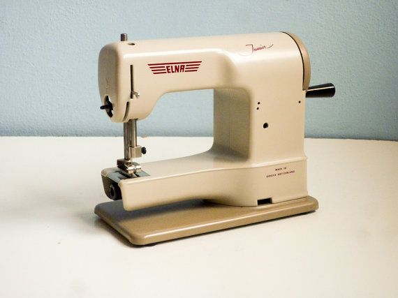 Rare 40s Elna Working Sewing Machine Elna Junior Swiss Made SEWING Magnificent Elna Junior Sewing Machine