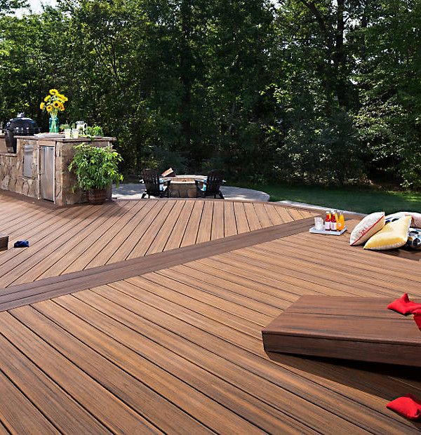 Trex Transcend Tropics Havana Gold Grooved 12 Schillings Trex Patio Deck Design Trex Deck Colors