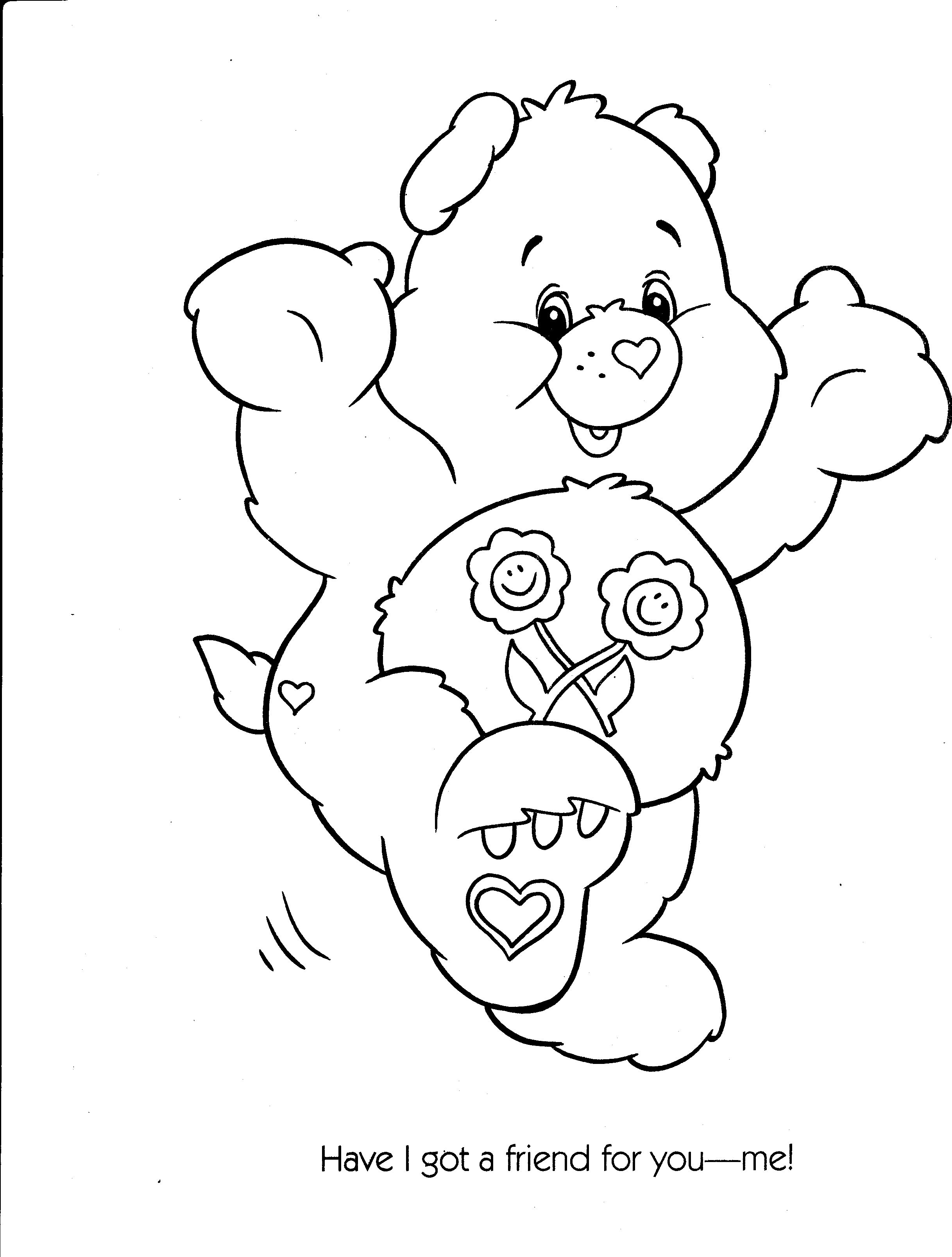 Care Bear Coloring Page Google Search Bear Coloring Pages Coloring Pages Coloring Books