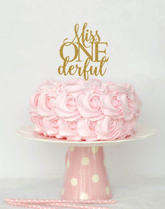 01a187efcb Miss Onederful Cake Topper