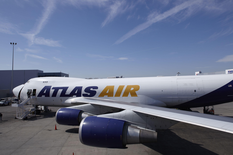 Atlas Air Boeing 747400F freighter Atlas air, Boeing