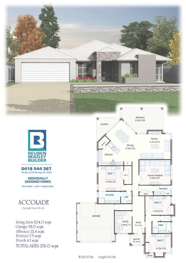Reuben Beazley Builder Bendigo Builder Home Like The Plan Except The Kitchen Different Facade Though Ev Planlari Evler