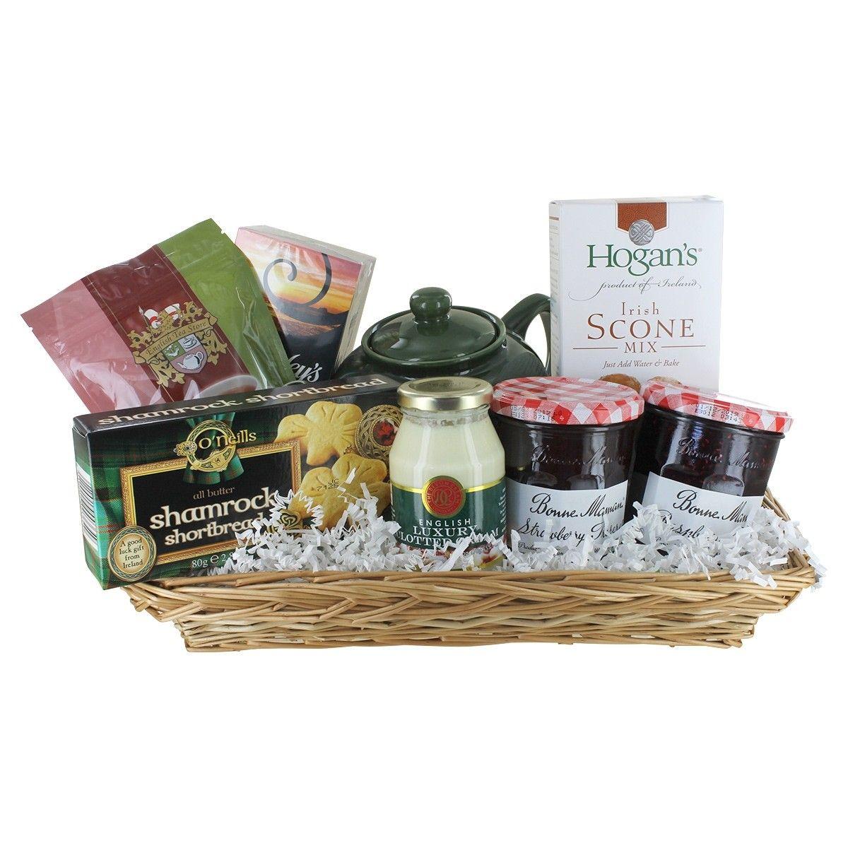 Irish Tea Gift Basket Tea gifts basket, Tea gift baskets