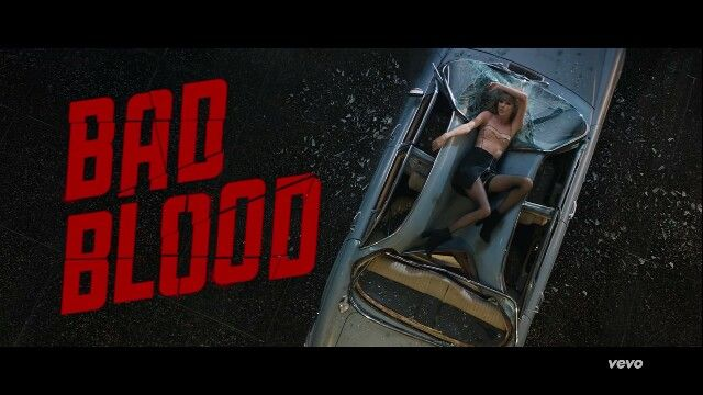 BAD BLOOD by Taylor Swift listen to the song it is a really good song if you watch the video with it.