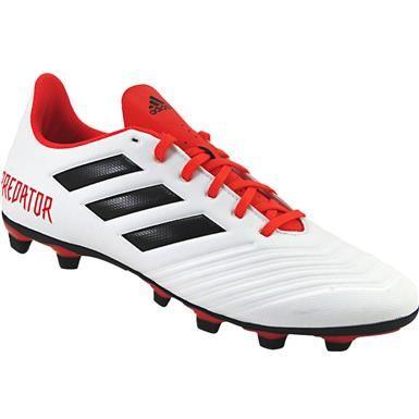b4a36aa958d3 Adidas Predator 18.4 Fxg Outdoor Soccer Cleats - Mens White Black Coral