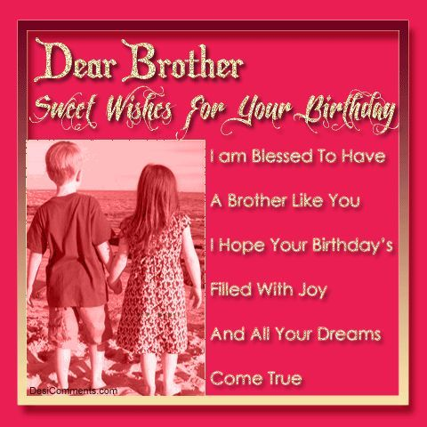 beautiful good birthday images for brother – Birthday Card for Brother from Sister