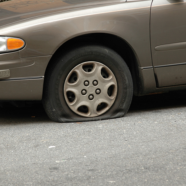 Don't let a FlatTire deflate your afternoon. D & D