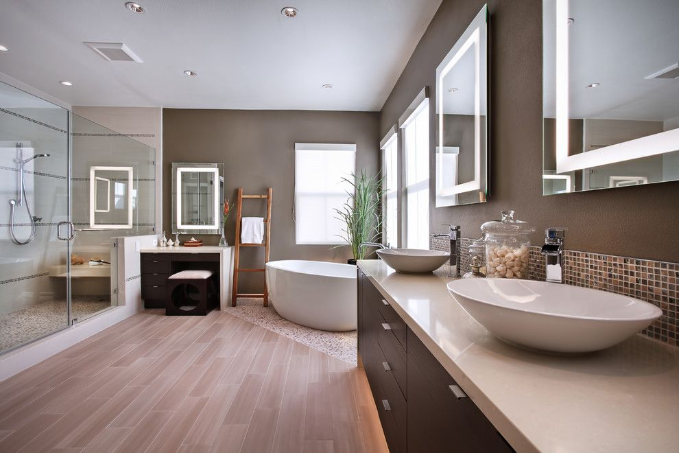 Custom Design Bathrooms Beauteous Yorba Linda Residence  Contemporary  Bathroom  Orange County Review