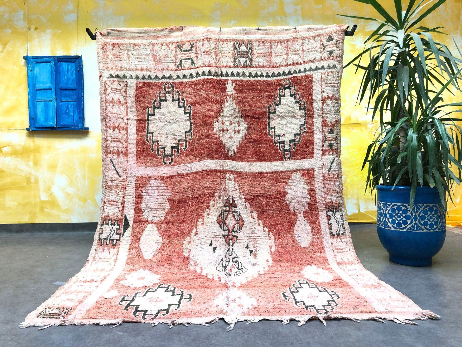 Authentic Vintage Handmade Rug 5x6 Stunning Berber Azilal Vintage Rug Morocco Decor Berber Carpet Handmade Rug Soft Vintage Carpet Boho Vintage Carpet Carpet Handmade Boho Carpets