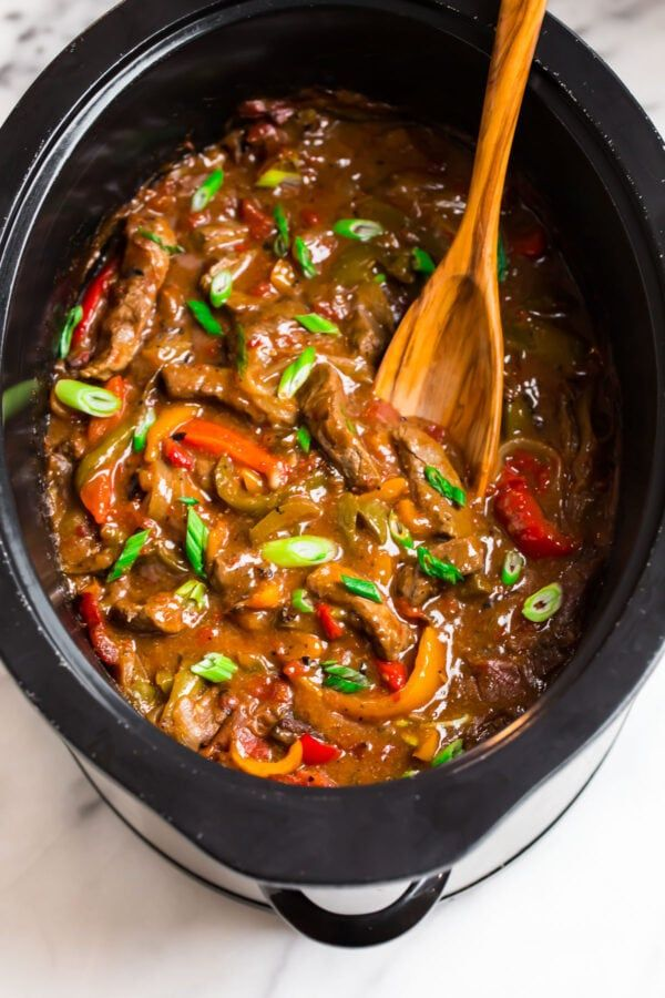 This easy Crock Pot Pepper Steak recipe has tons of flavor ...