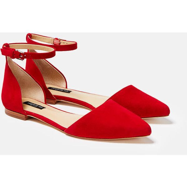 d2df3c8ee548b Ankle Strap Flats, Pointy Toe Flats, Ankle Straps, Red Flat Shoes ...