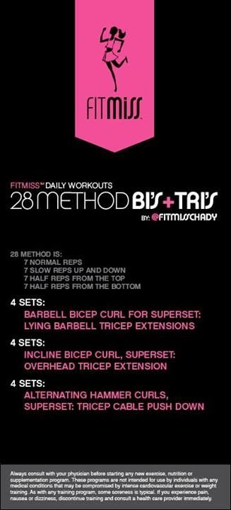 Bis tris | FITMISS Workouts | Workout, Health fitness:__cat__
