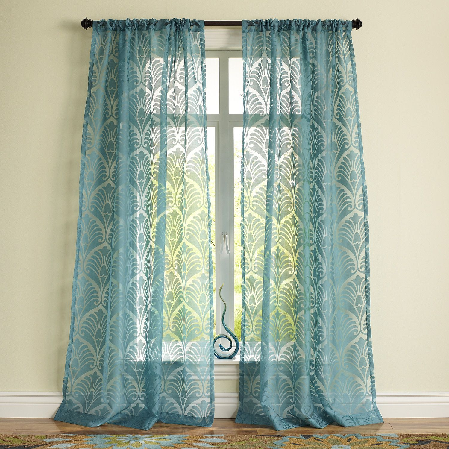Peacock Burnout Curtain Pier 1 Imports Case Alicia