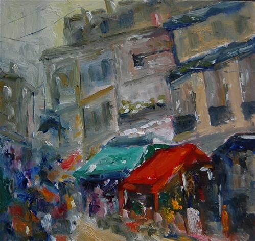 """Market Day 2"" - Original Fine Art for Sale - © Deborah Harold"