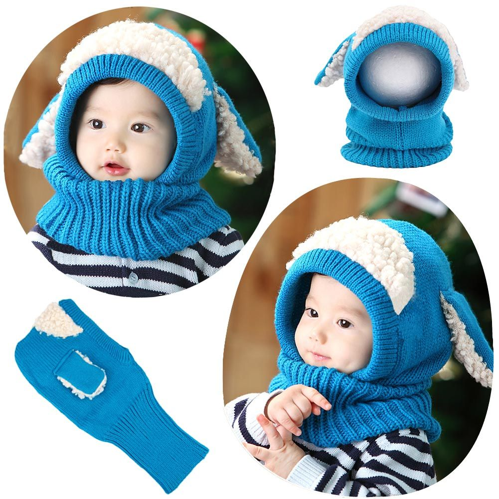 This knitted baby hat is exactly a great stunner. Its soft and stretch fabric will make you baby feel warm and comfy. And its neckerchief design and puppy style with ears will make him / her look cute and fashionable. It will soon be your favorite and also be a good present for your friend. DO NOT MISS IT!