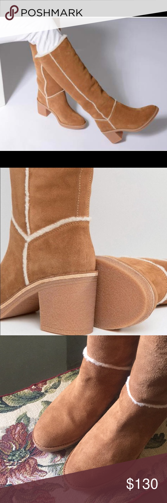 be305b921f7 🎁NEW UGG KASEN TALL CHESTNUT WITHOUT TAGS OR BOX Details A crepe-like  rubber