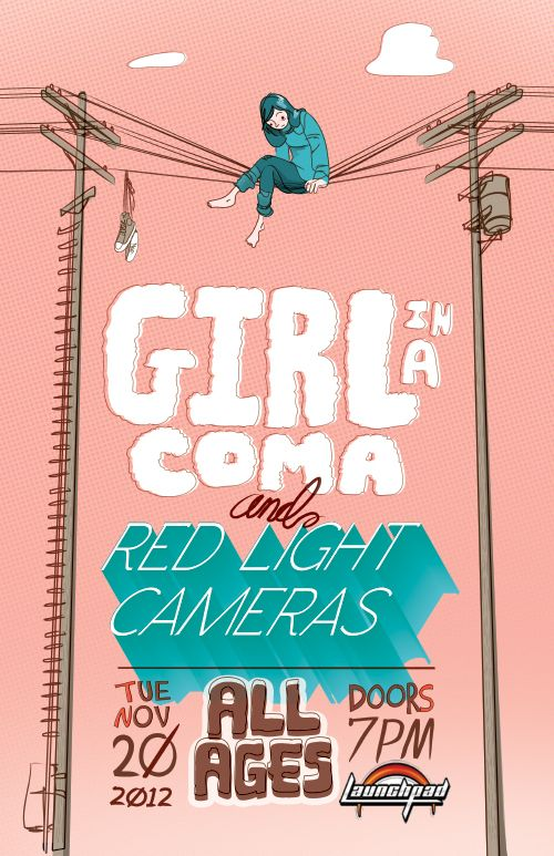 Gig Poster: Girl in a Coma by Tamarind King, via Behance