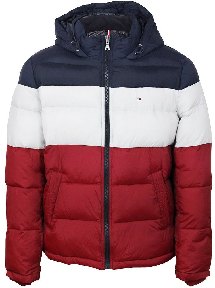 a0fa8623e536 New Tommy Hilfiger Men s Ultra Loft Insulated Classic Hooded Puffer Jacket  Coat  TommyHilfiger  Puffer