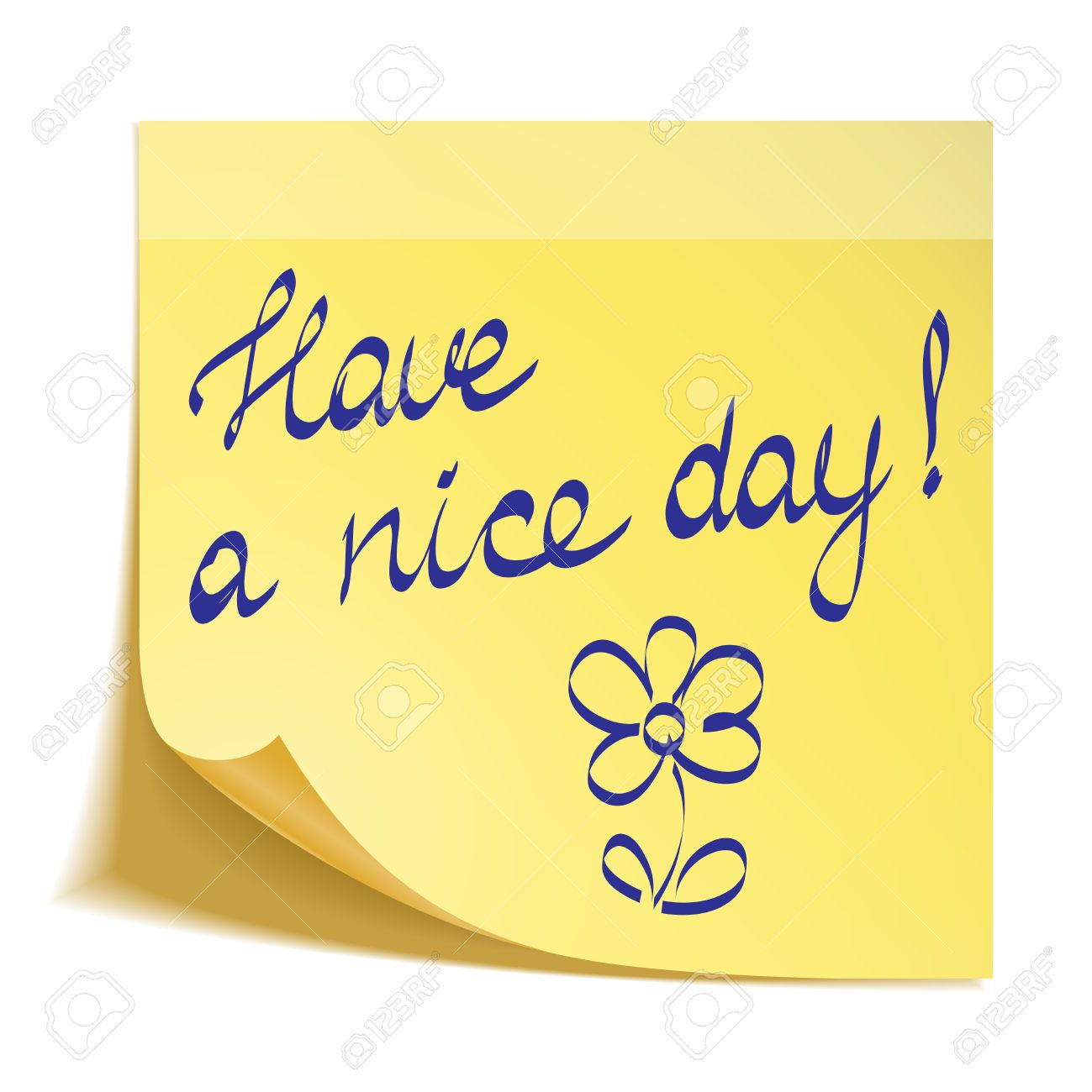 Have A Nice Day Note Day Good Day Nice