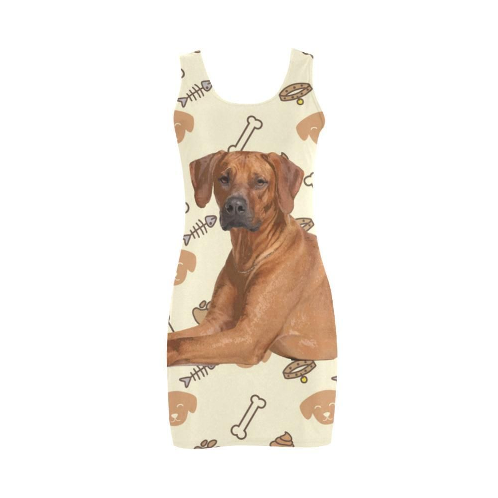 14eb14213f85  TeeAmazing -  e-joyer Rhodesian Ridgeback Dog Medea Vest Dress - AdoreWe.