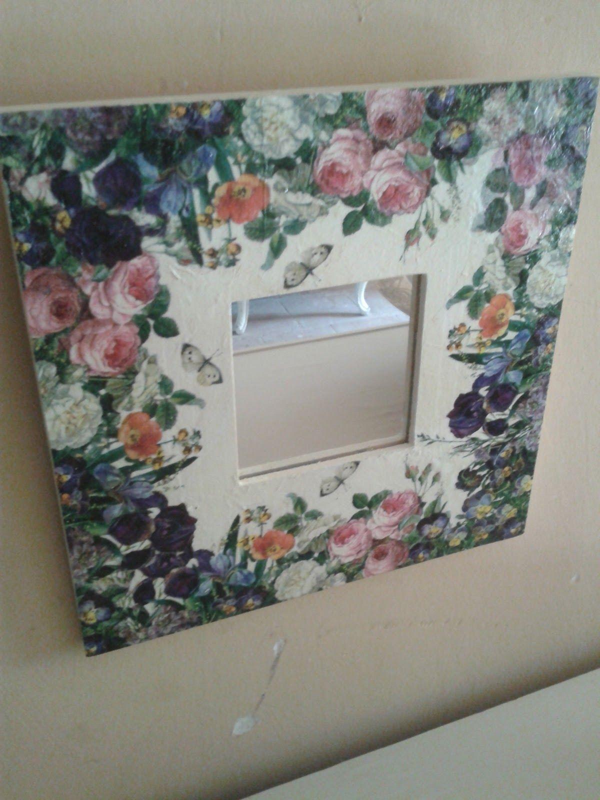 Malma del ikea con decoupage espejo marcos y artesan as - Espejos de ikea ...