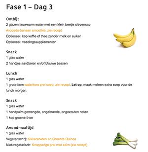 voorbeeld menu