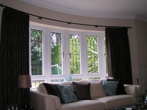 Bay Window Curtain Tracks Flexible - Curtains Design Gallery