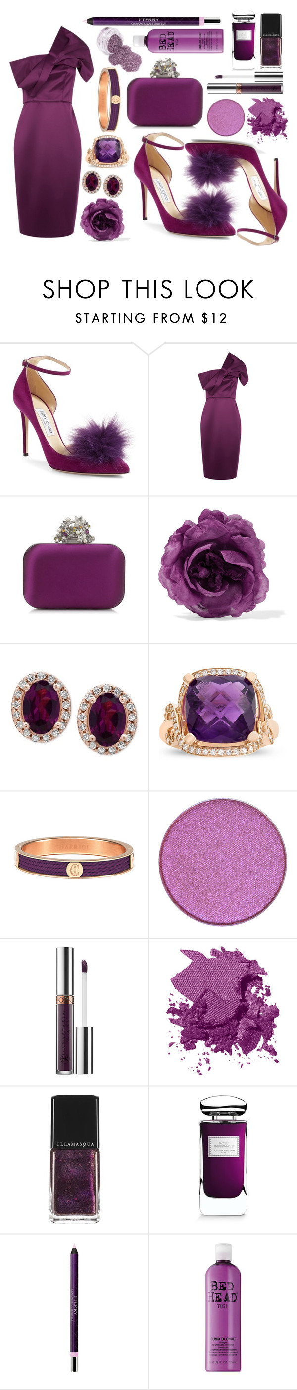 """Purple Pride"" by amanda-noel-fischer ❤ liked on Polyvore featuring Jimmy Choo, Gucci, Effy Jewelry, Charriol, Anastasia Beverly Hills, Bobbi Brown Cosmetics, Illamasqua, By Terry and TIGI"