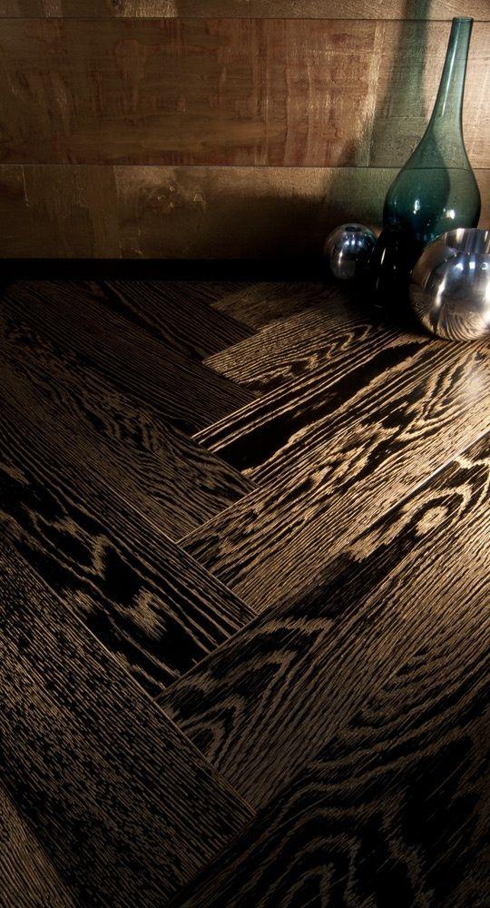 hardwood flooring detail  possibly ebony stained Oak