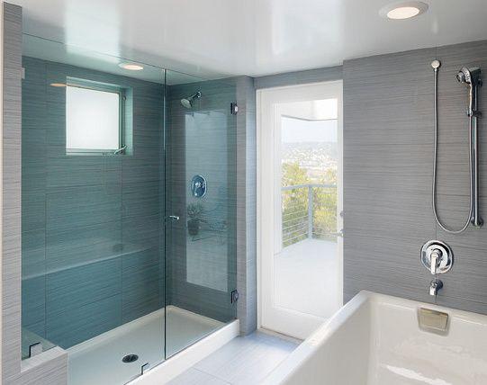 receveur de douche salle de bain bleue | bathroom | Pinterest ...