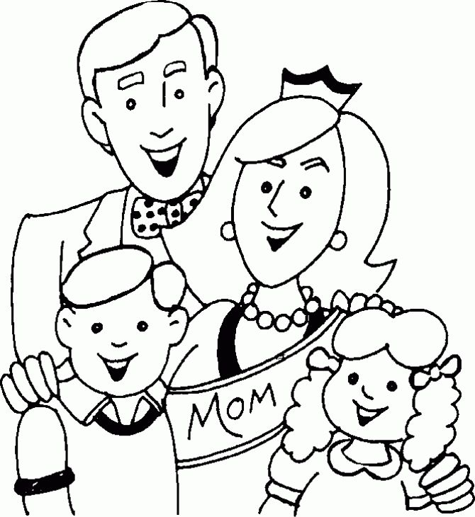 Family Coloring Page Printable  Fun Coloring Pages  Pinterest