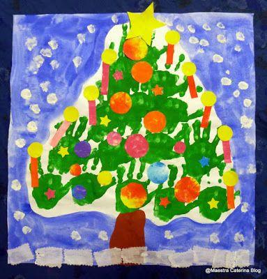 Maestra caterina albero di natale con le mani natale for Maestra caterina natale