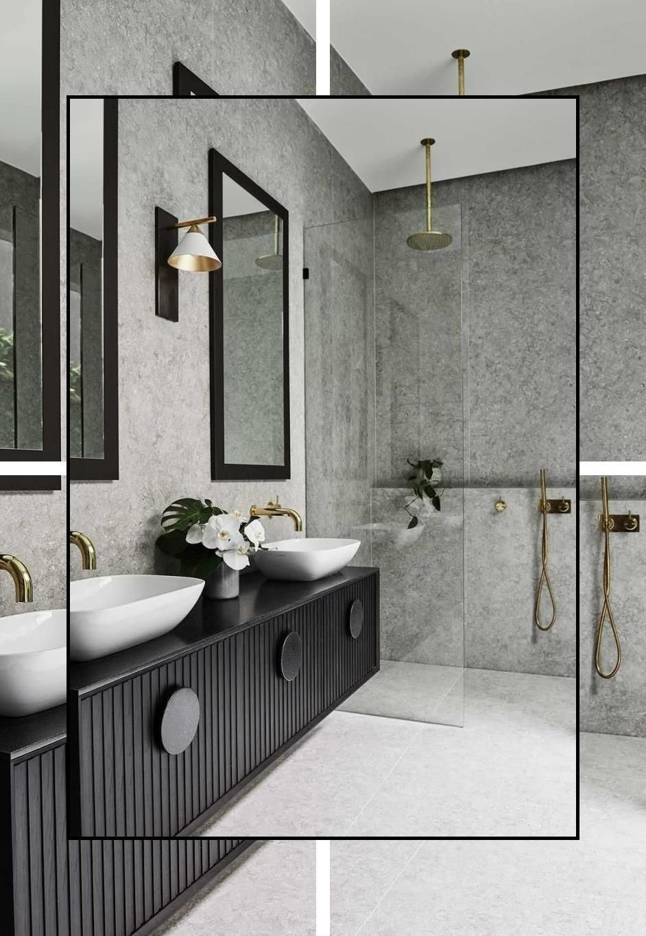 Bathroom Theme Sets Bathroom Ornaments Accessories Crackle Glass Bathroom Set In 2020 Stone Tile Bathroom Bathroom Tile Designs Bathroom Decor
