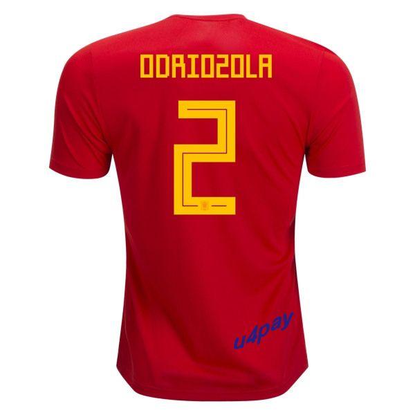 football shirt alvaro odriozola 2 2018 fifa world cup spain home soccer jersey