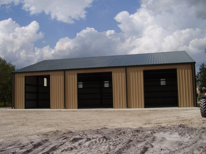 3 Car Garage Metal Building steel building Garage- This