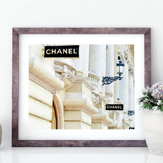 #ChanelArtPrint #ChanelDecor Chanel Monte Carlo Store Chanel Shopping Chanel Art Print
