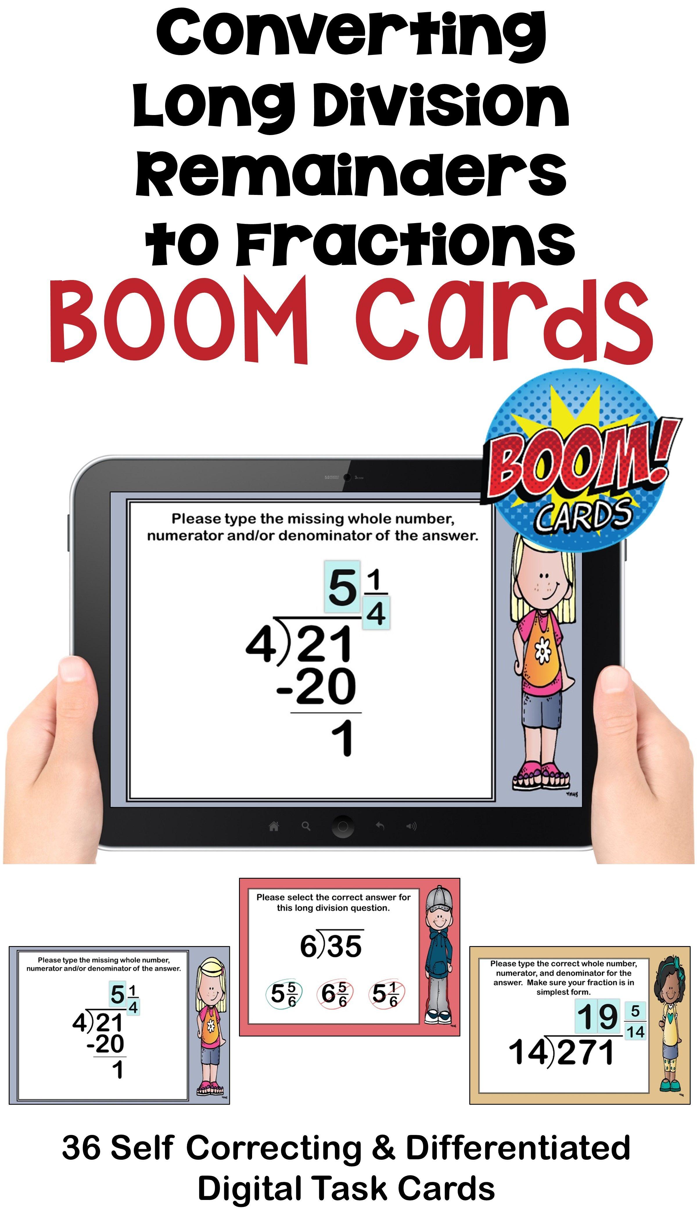 Converting Long Division Remainders To Fractions Boom