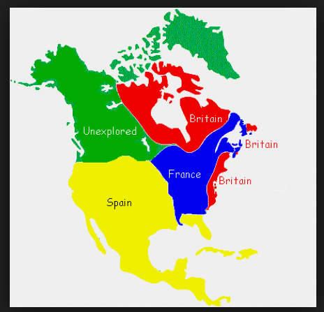 Map Of Europe And North America Map of European Colonies in North America | North america map