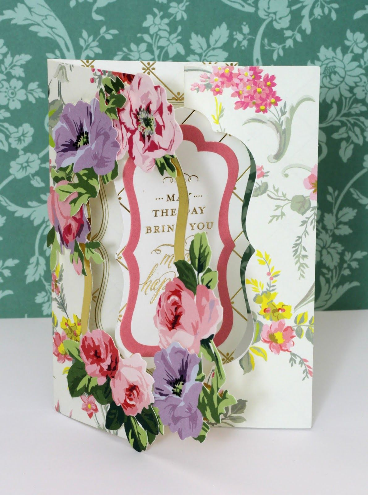 Last Month I Posted A Card That I Made Using Anna Griffin S