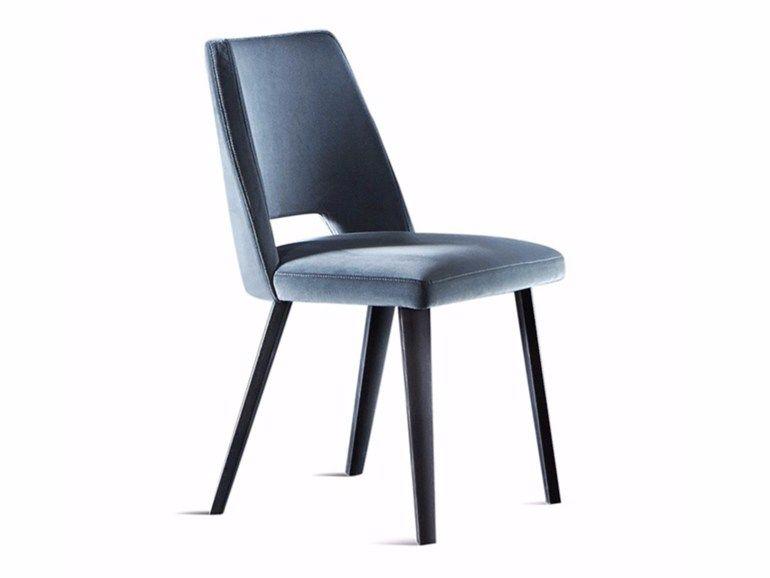 Upholstered Wooden Chair Thea Gallotti Radice Cadeiras De