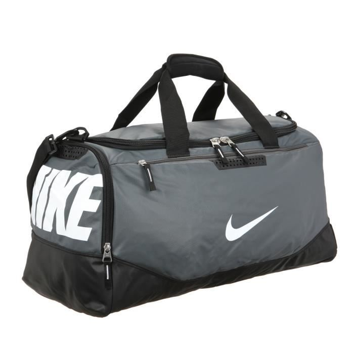 NIKE Sac de Sport Train Max Medium Gris et