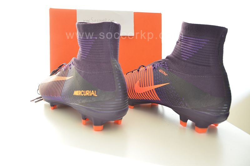 49222acdf Nike Kids Mercurial Superfly V FG - Junior Boots - Firm Ground - Purple  Dynasty/Bright Citrus/Hyper Grape