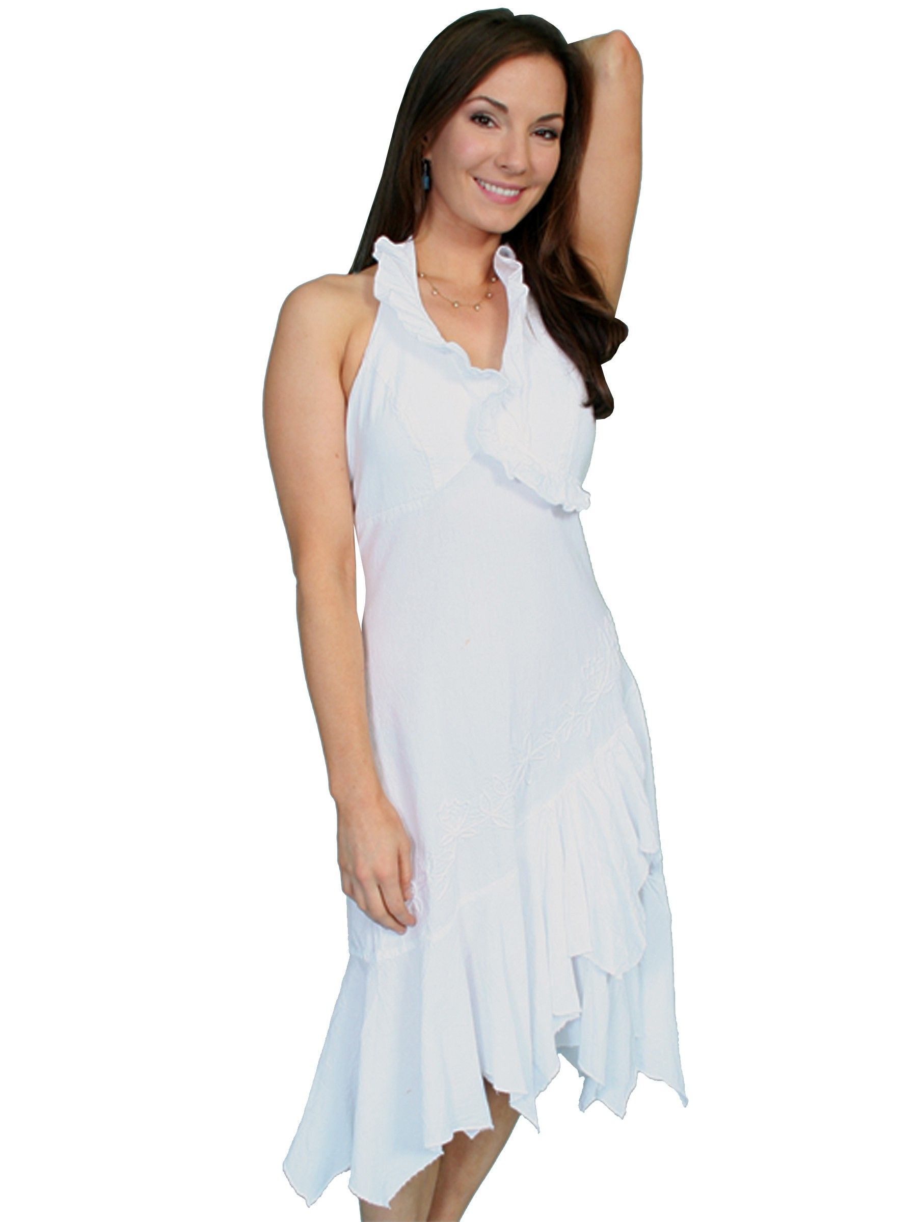 Rolling Prairie Cotton Wedding Dress in White - SOLD OUT