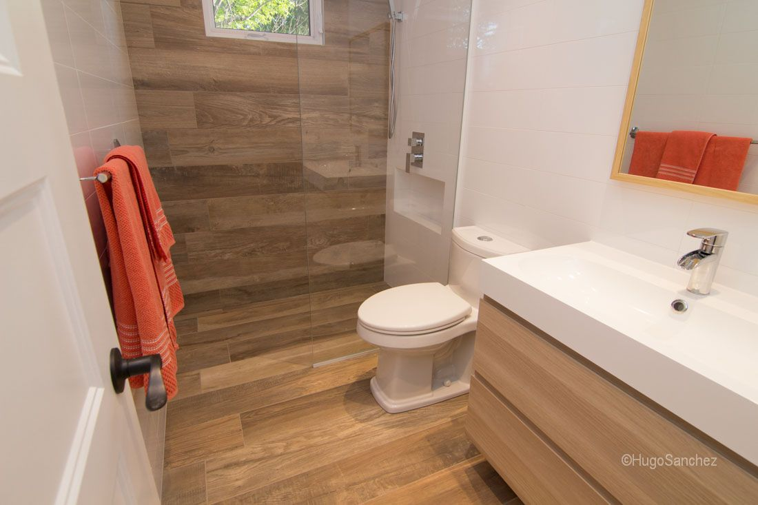 Curbless shower wood like tiles linear drain in floor heating curbless shower wood like tiles linear drain in floor heating schluter systems membranes dailygadgetfo Gallery