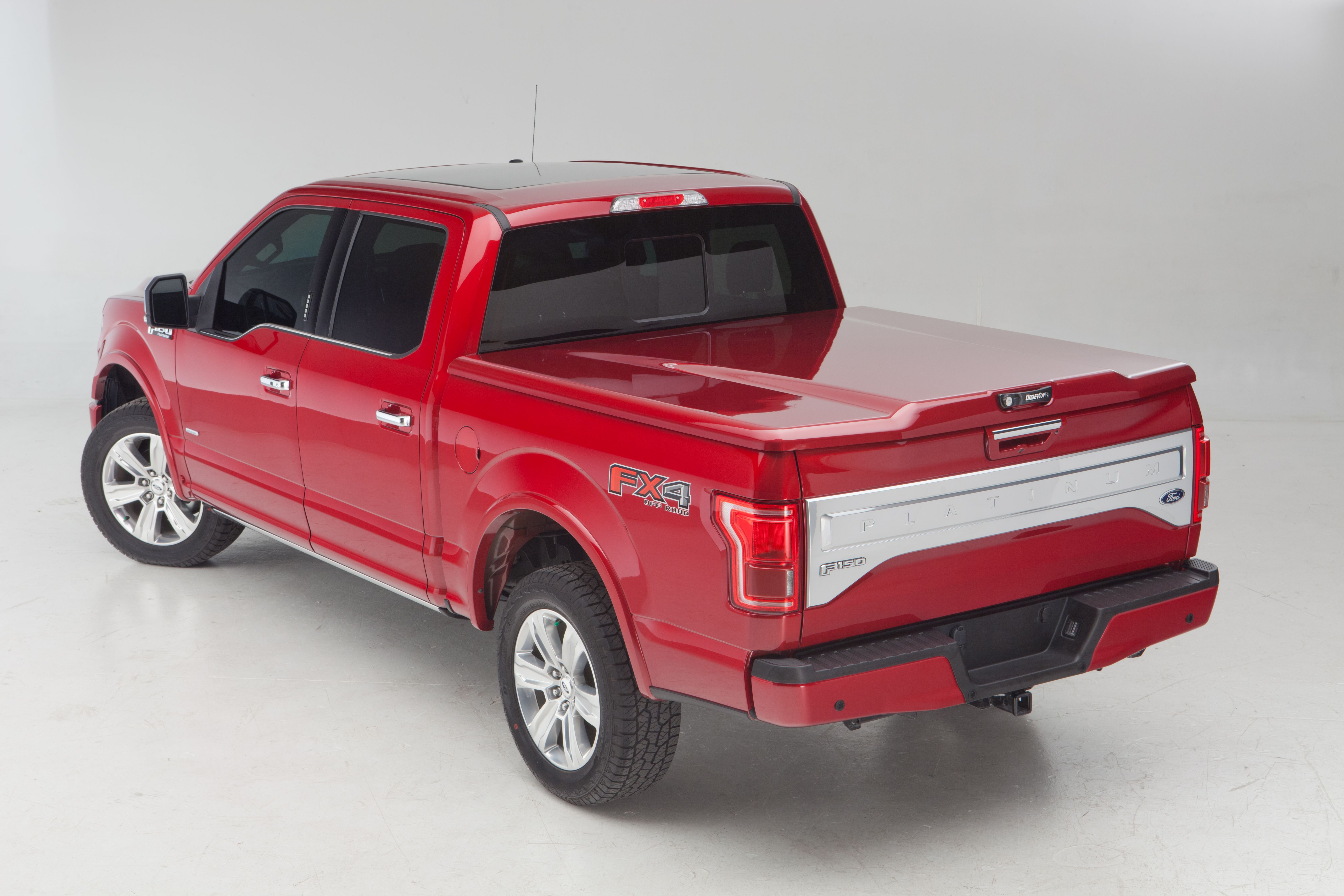 2015 ford f 150 platinum with elite lx bed cover from undercover factory painted