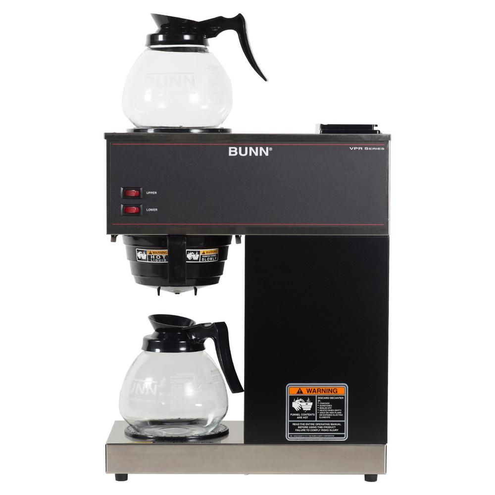 Bunn Vpr 12 Cup Commercial Coffee Maker W 2 Glass Decanters 33200 0015 Black In 2020 Coffee Brewer Commercial Coffee Makers Coffee Maker