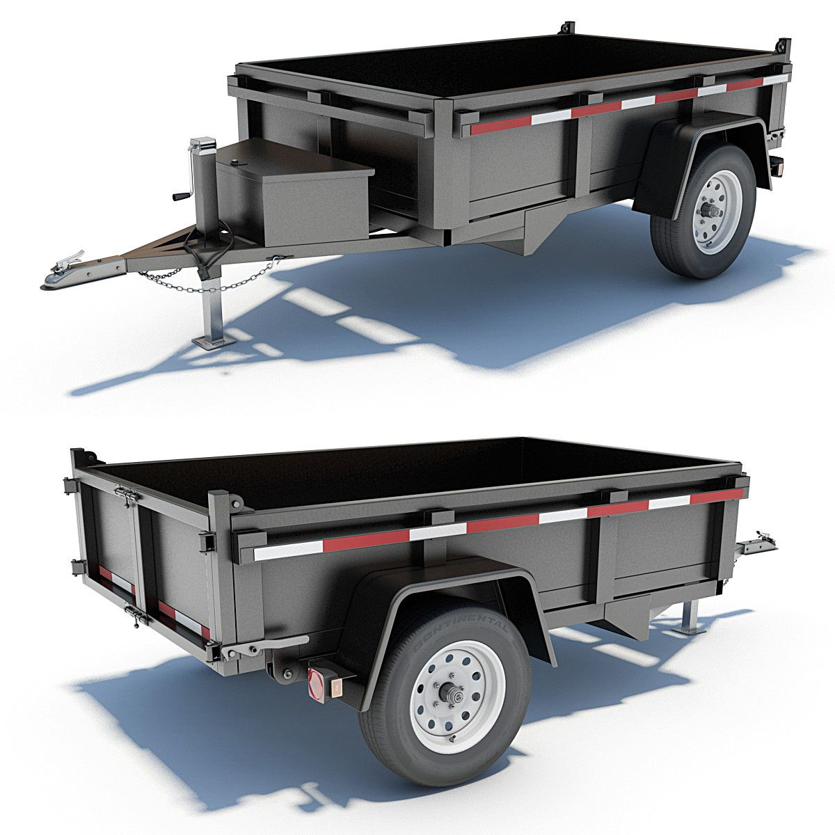 3d Model Utility Trailer Utility Trailer Homemade Trailer Box Trailer