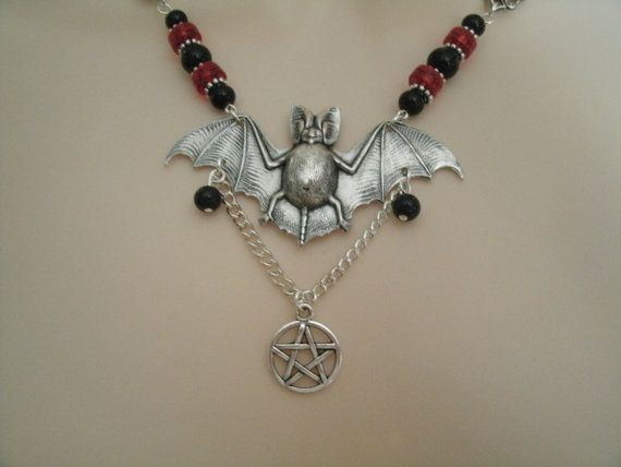 Night Magic Pentacle Necklace wiccan jewelry pagan by Sheekydoodle
