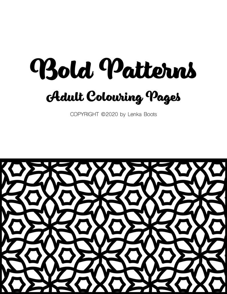 Patterns Colouring Pages Bold Patterns 30 Colouring Pages With Simple Thick Lined Patterns Printable Pdf Colouring Pages Pattern Coloring Pages Bold Pattern